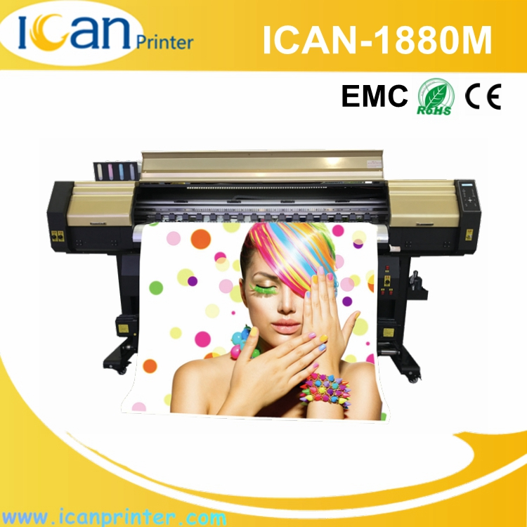 ICAN-1880M 2.5kw crystal jet 1.88m challenger large format color laser printer price