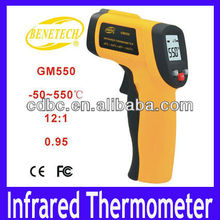 Free shipping Infrared Thermometer GM550 Electronic Digital Non-Contact IR Laser Infrared Thermometer -50~550 Degree