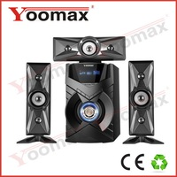 2014 free download mp3 songs 3.1 home theater speaker systems - high power,USB,SD,FM remote control,LED Display