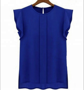 High quality ladies Candy Colors Chiffon Shirt / women Sling Shirt Sleeveless Chiffon Vest