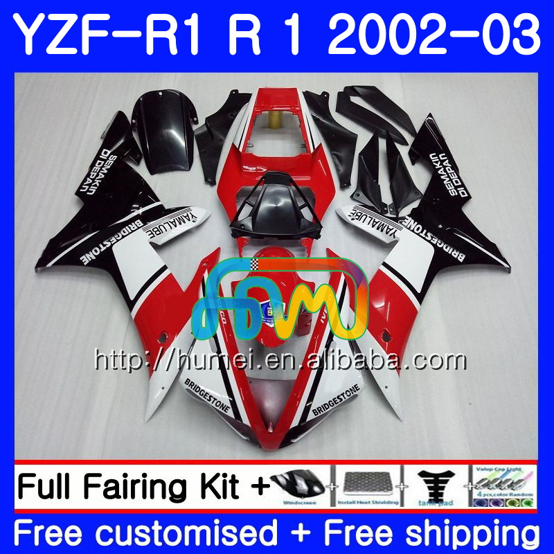 red black Body For YAMAHA YZF 1000 YZFR1 <strong>02</strong> <strong>03</strong> YZF-1000 Bodywork 99HM9 YZF R 1 YZF <strong>R1</strong> <strong>02</strong> <strong>03</strong> YZF1000 YZF-<strong>R1</strong> 2002 2003 <strong>Fairing</strong>