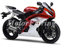 for yamaha yzf r6 fairings 2008 2009 r6 body kit 08 09 white red r6 fairing kit