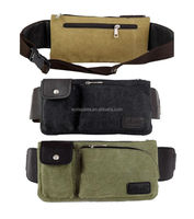 Men's Shoulder Cross Body Chest Waist Fanny Pack Bum Bag Wallet Canvas Sports