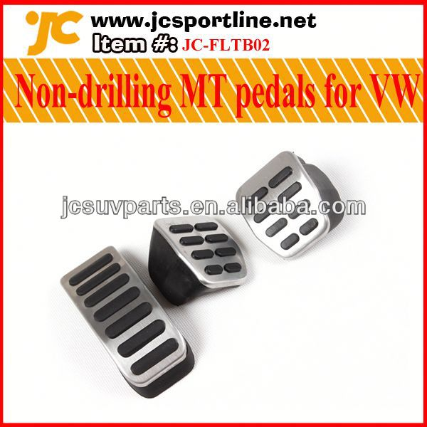 High quality aluminum alloy non-drilling MT pedals for VW POLO/Lavida/Bora/Fabia brake pedals