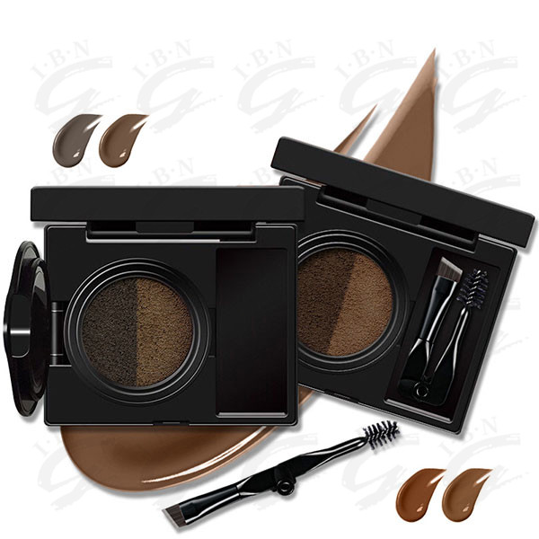 2017 new item waterproof air cushion eyebrow cream set with make up mirror