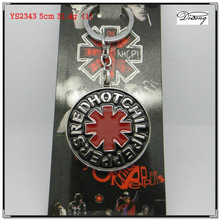 YS2343 cheap metal custom enamel keychain/ Red Hot Chili Peppers keychains manufacturers in china