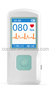 "2015 Contec New Product, PM10 Portable ECG Monitor, Electrocardiograph, ECG Machine with 1.77"" color TFT-LCD"