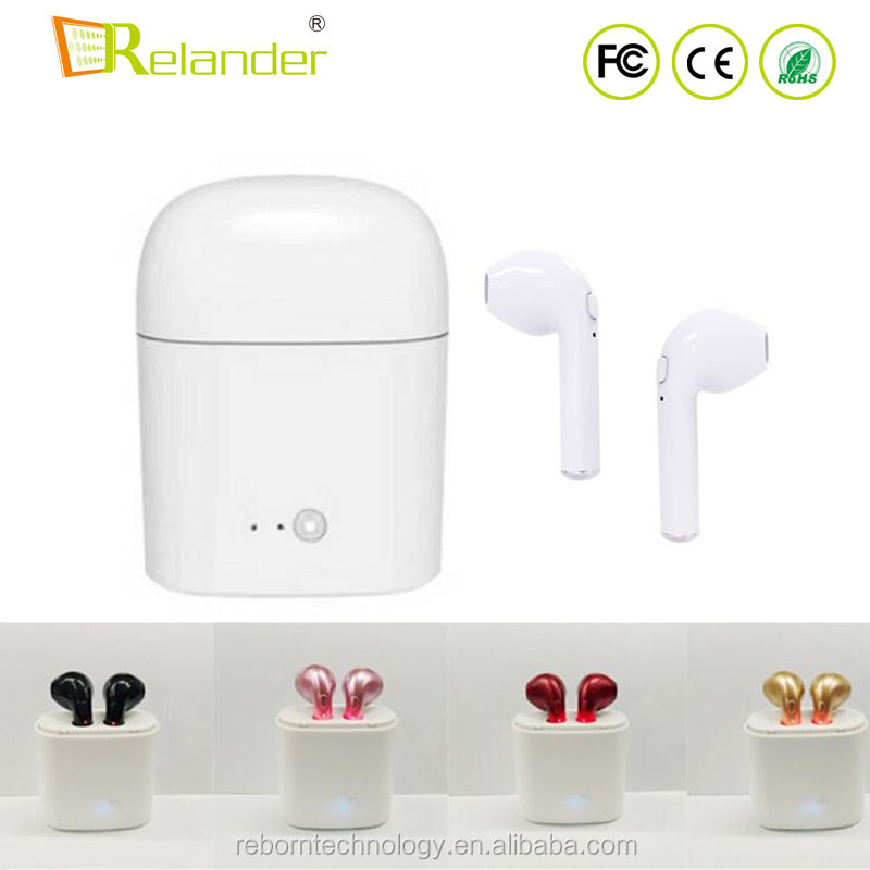 Promotion Gift HB-<strong>Q</strong> I7 I7S TWS Twins Wireless Bluetooth V4.2 Earbuds Earphones For iPhone/Android