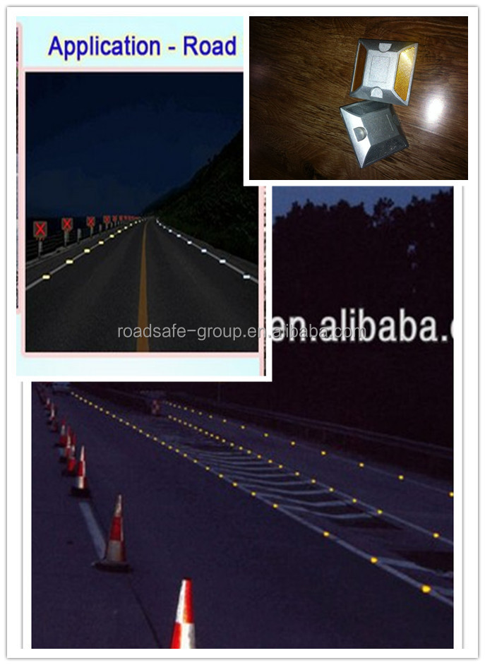 RSG 3M reflector plastic road stud/road pavement marker/reflective glass bead aluminium road stud