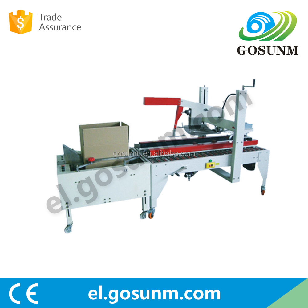 Semi-automatic bottom folding and automatic box sealing machine