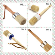 Wax paint brush/chalk paint brush/mixed bristle round brush