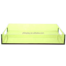 Custom Made Lucite Trays Thick Green Acrylic Serving Trays Wholesale Dongguan Manufacturer High Quality