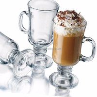 Wholesale 275ml Irish Glass Coffee/Milk/Latte/Juice Goblet Cup Cafe Glassware, Classice Irish Coffee Glass Mug