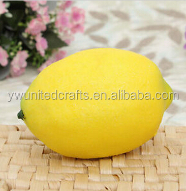 5 x Large Lemons Yellow Decorative Plastic Artificial Fruit