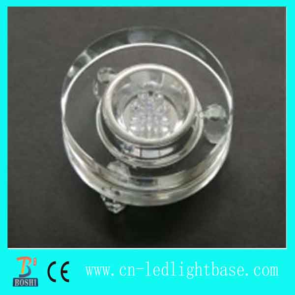 Clear glass led round light base