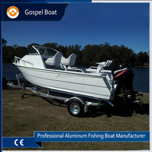 Aluminum Hull Material 5m Cabin Boat with 90hp Outboard Motor