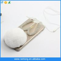 Best selling different types rabbit fur phone cases for iphone 5 s China wholesale