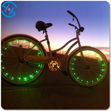 2016 Promotion New Type battery operated Colorful LED motorcycle wheel light tire led wheel lighting