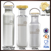 New product mirror polish custom stainless water bottles without labels