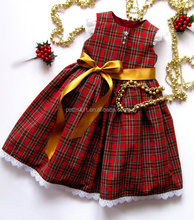 Korean dress clothing for girls kids boutique clothing baby girl plaid dress