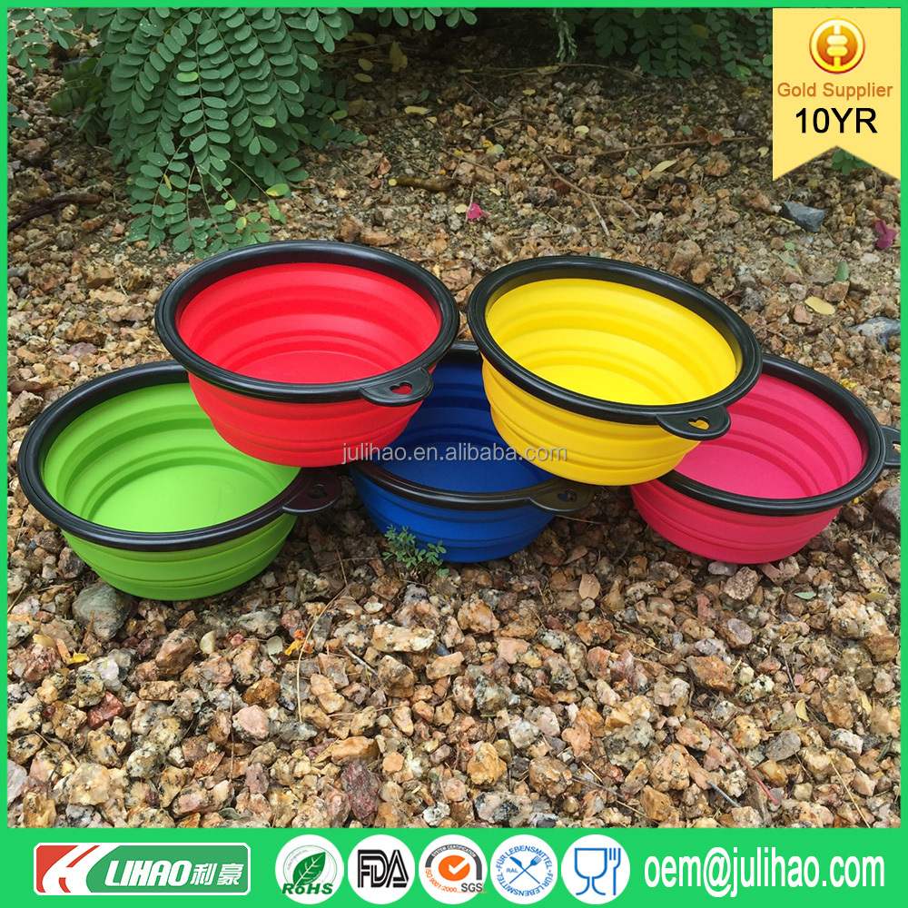Silicone Pet Bowls Animal Feeder Travel Camping