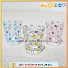 Transparent whiskey personalized shot glass with logo printing