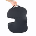 Mesh cover memory foam filling side handle therapeutic seat foam cushion