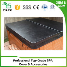 Guangzhou Super insulated platical good quality luxury leather spa pool cover
