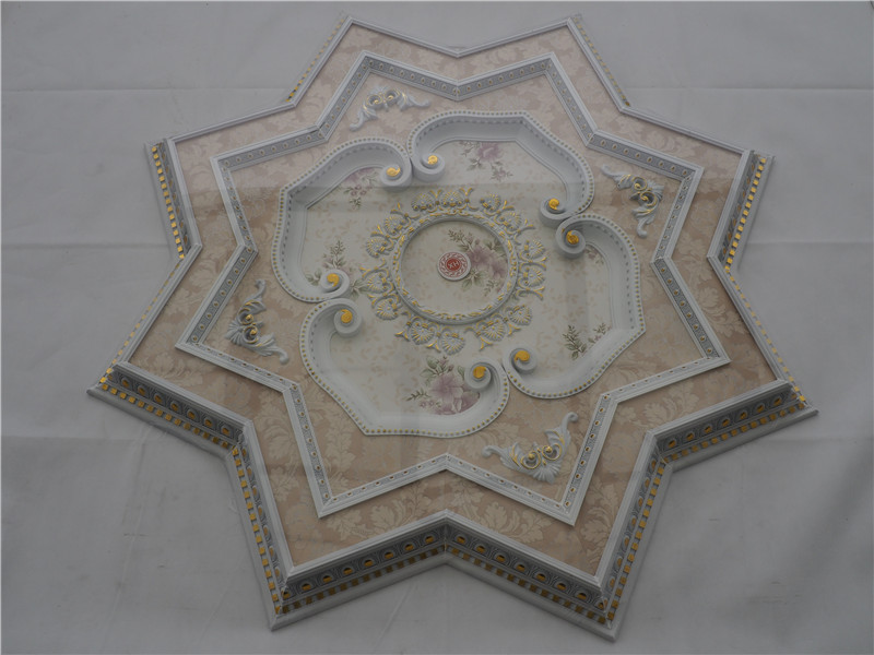 Luxury square Ps and wooden ceiling medallion not gypsum ceiling tiles