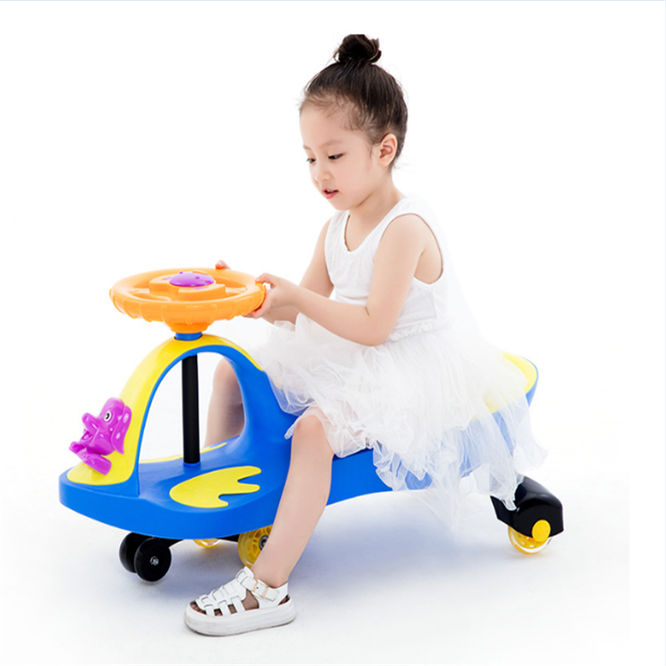 high quality plastic baby toys swing car importer /kids swing car for 2-8 year old children/original PP kids twist car rolling