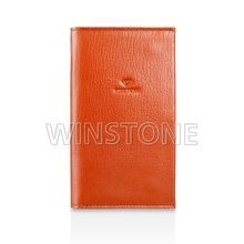 Color Blocking Geunine Leather Mobile Phone Case wallet