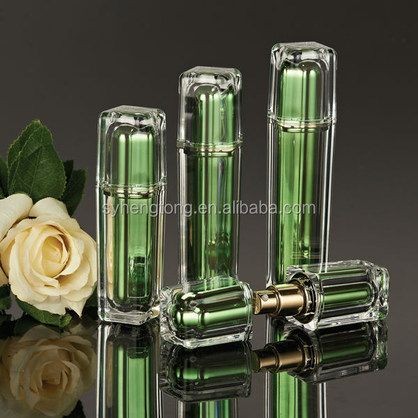Luxury square shiny acrylic bottle