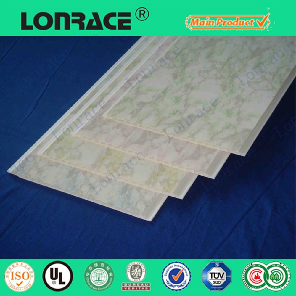 Moisture-Proof decoration pvc glue up ceiling tiles