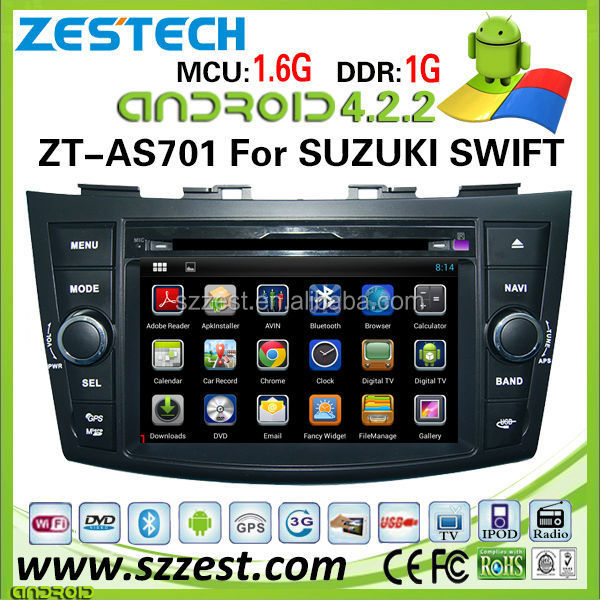 "ZESTECH hot sale best price android car dvd player for SUZUKI swift car dvd andriod with 7"" capacitive screen dual core A9"