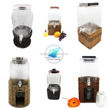 Wholesale Huge Mason Glass Beverage Drinking Dispenser With Water Faucet