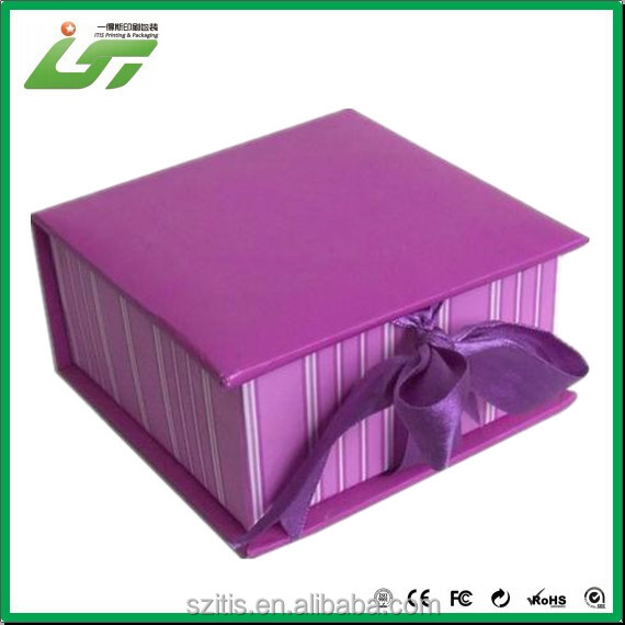 printing book style paper color box,cardboard color box,color box packaging with ribbon