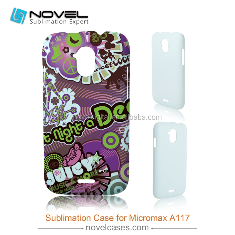 DIY 3D Sublimation phone case for printing for Micromax A117, customized full-printig phone cover