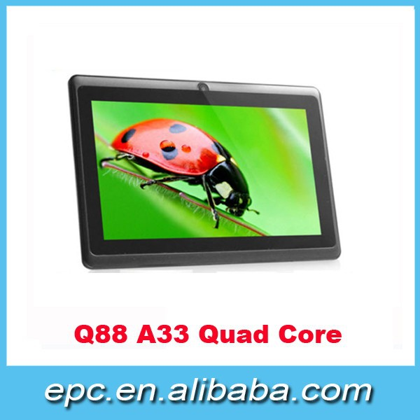 Only 26USD!!! Cheapest 7 inch quad core tablet pc, android allwinner a33 tablet 7 inch, best sale 7 inch tablet wifi two cameras