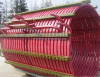 750kw round induction furnace coil and round copper tube