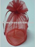 organza drawstring wine bag with round bottom