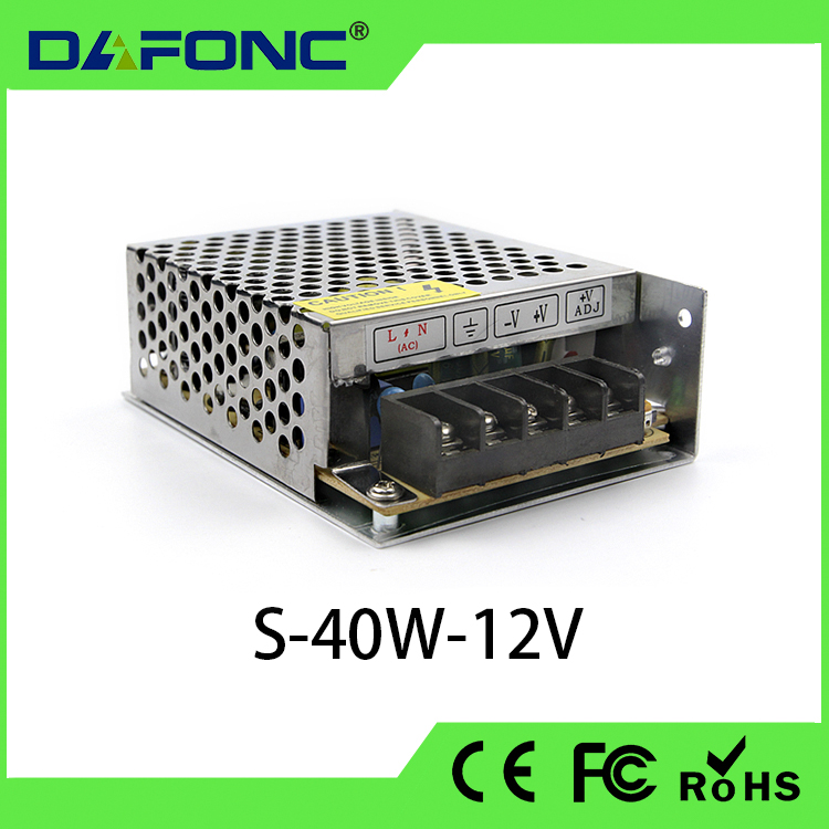 S-40W-12V High Quality switch power supply AC85~265V 50-60Hz 40W ac/dc led power supply mobile power