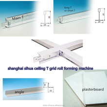 t bar ceiling tee grid main t /cross t / l angle three lines rolling forming machine