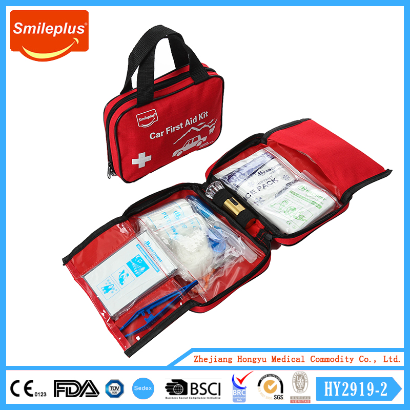 Top Selling DIN Kit Car Accessories First Aid Kit,vehicel first aid bag