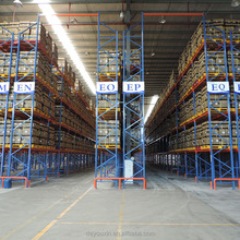Steel storage containers pallet rack with wooden pallet and wire mesh for storage racking system
