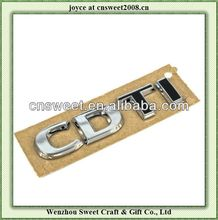 custom car emblems and letters/adhesive car emblem