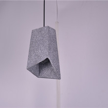 Irregular Cube Light Fixtures Reading Room Ceiling Light LED Concrete Chandelier
