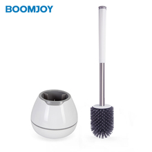 boomjoy round base new design ceramic cat toilet <strong>brush</strong> holder b5