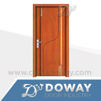 Invisible uv paint carve wooden interior door