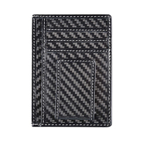 2017 Top Fashion Custom High End Luxury Carbon Fiber Money Clip, RFID Card Holder OEM