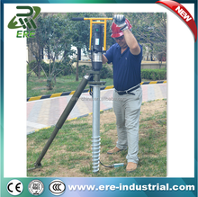 solar system foundation using spiral piling machine